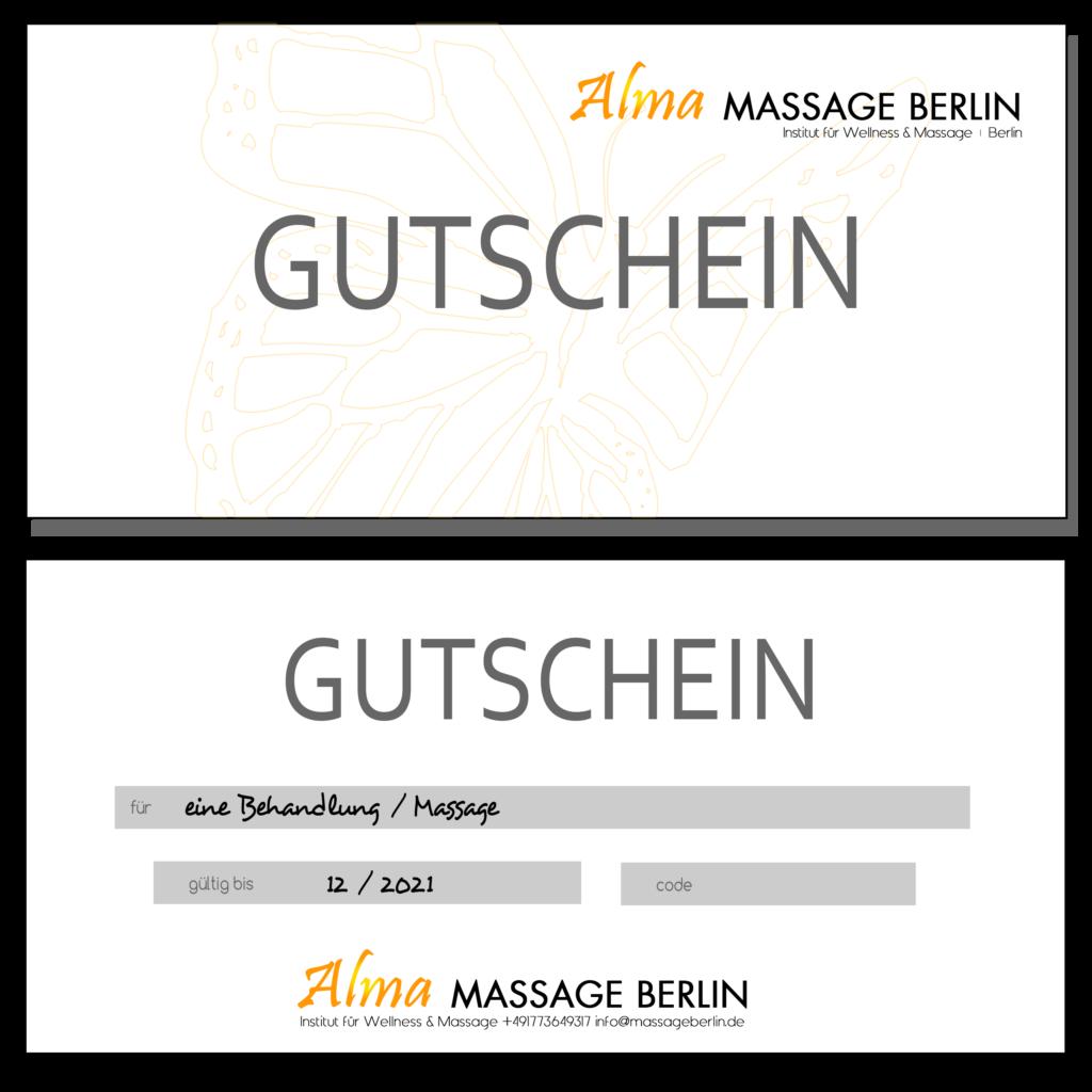 Massage Gutschein Berlin Massage Berlin